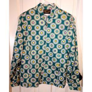Bob Mackie Wearable Art Zip Jacket Sz Medium